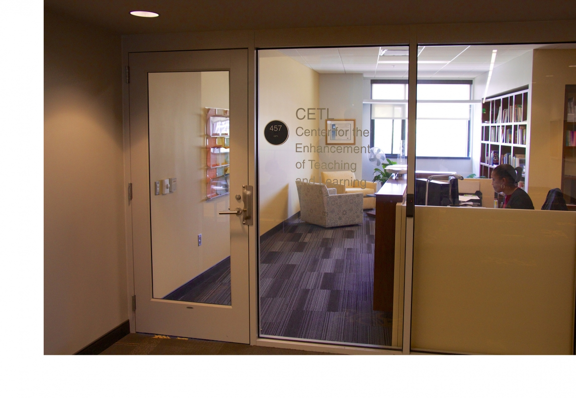 The Entrance to the Office of the Center for Teaching and Learning
