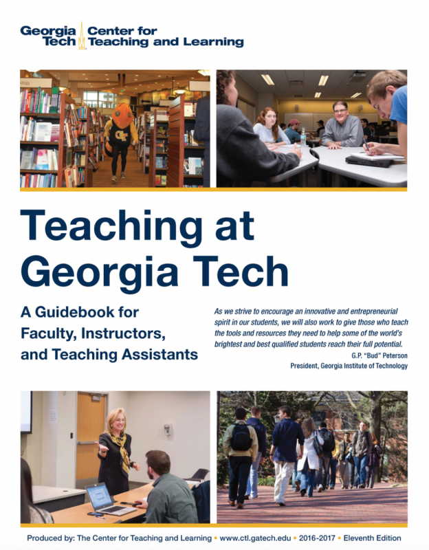 front of the Georgia Tech teaching guidebook