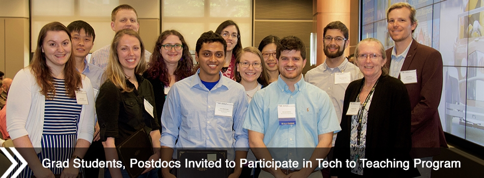 Grad Students, Postdocs Invited to Participate in Tech to Teaching Program