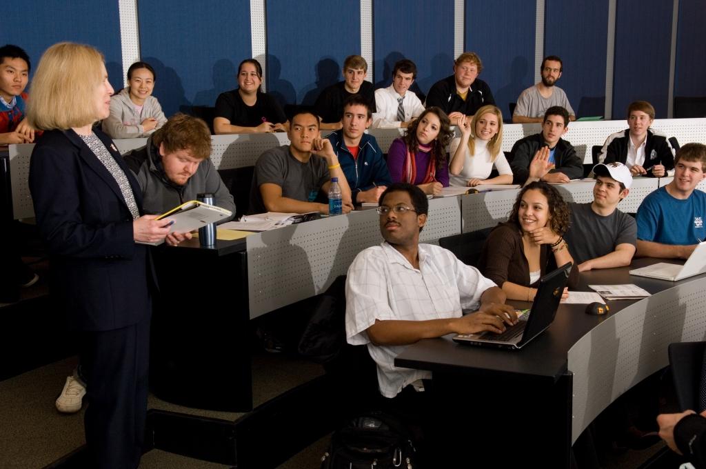 Instructor teaching class
